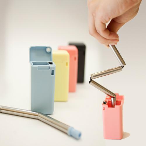 摺疊式不銹鋼環保吸管 Collapsible Foldable Straws