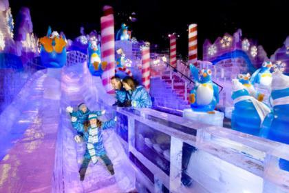 2 Days Christmas Village, Philadelphia Observation Desk, Ice Sculpture Fest Tour